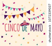 banner or card for cinco de... | Shutterstock .eps vector #1072339037
