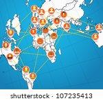 social network abstract scheme...   Shutterstock .eps vector #107235413