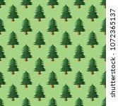 pine tree seamless pattern.... | Shutterstock .eps vector #1072365137