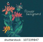 floral background with place...
