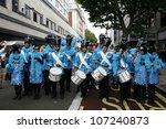 london   july 7  people take... | Shutterstock . vector #107240873