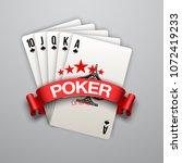 illustration online casino... | Shutterstock .eps vector #1072419233