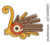 doodle indigenous alt native... | Shutterstock .eps vector #1072435847
