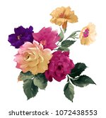 graceful flowers  the leaves... | Shutterstock . vector #1072438553