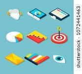 business analytics isometric... | Shutterstock .eps vector #1072441463