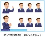 the face of a businessman with...   Shutterstock .eps vector #1072454177
