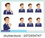 the face of a businessman with...   Shutterstock .eps vector #1072454747