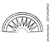 grunge aztec indigenous head... | Shutterstock .eps vector #1072463963
