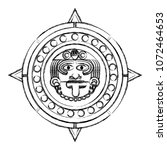 grunge sun god and indigenous... | Shutterstock .eps vector #1072464653