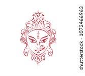 durga goddess of power  divine...   Shutterstock .eps vector #1072466963