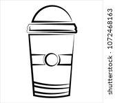 coffee takeaway cup vector art...   Shutterstock .eps vector #1072468163