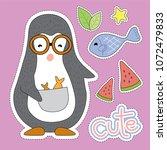 penguin cartoon illustration  ...   Shutterstock .eps vector #1072479833