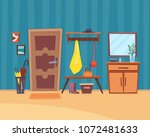 hall interior with furniture... | Shutterstock .eps vector #1072481633