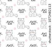 cats vector seamless pattern....   Shutterstock .eps vector #1072482113