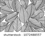 abstract leaves background... | Shutterstock .eps vector #1072488557