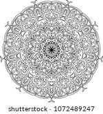 mandala  adult coloring page....   Shutterstock .eps vector #1072489247