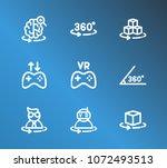 virtual reality icon set and...