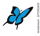 color cute butterfly insect...   Shutterstock .eps vector #1072502633