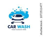 car wash logo design vector | Shutterstock .eps vector #1072511477