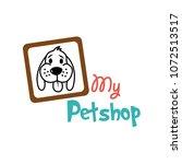 dog   pet shop logo template | Shutterstock .eps vector #1072513517