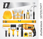 construction concept set all of ... | Shutterstock .eps vector #1072517477