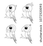 colorless set of different... | Shutterstock .eps vector #1072520093