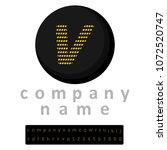 simple logo. one letter v in... | Shutterstock .eps vector #1072520747