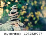 pile of stones in the nature | Shutterstock . vector #1072529777