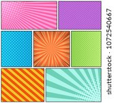 comic page bright background... | Shutterstock .eps vector #1072540667