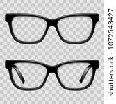 black framed glasses   Shutterstock .eps vector #1072543427