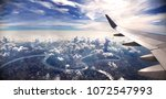 concept of airplane travel.... | Shutterstock . vector #1072547993