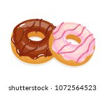 delicious appetizing donuts... | Shutterstock .eps vector #1072564523