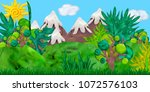 3d rendered game forest... | Shutterstock . vector #1072576103