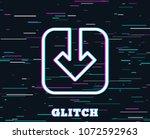 glitch effect. load document... | Shutterstock .eps vector #1072592963