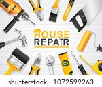 construction concept set all of ... | Shutterstock .eps vector #1072599263