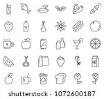 thin line icon set  ... | Shutterstock .eps vector #1072600187
