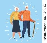 vector cartoon illustration of... | Shutterstock .eps vector #1072618667