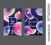 fluid colors universal cards... | Shutterstock .eps vector #1072623563