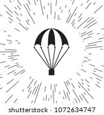 vector icon of a parachute | Shutterstock .eps vector #1072634747
