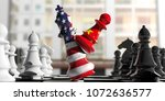 usa and china relations. china... | Shutterstock . vector #1072636577
