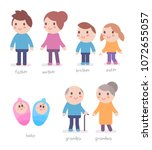 vector set of illustration of... | Shutterstock .eps vector #1072655057