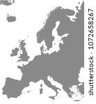europe map vector outline...   Shutterstock .eps vector #1072658267