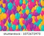 balloon seamless background for ... | Shutterstock .eps vector #1072672973