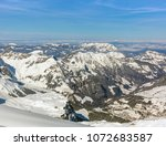 a wintertime view from mt.... | Shutterstock . vector #1072683587