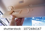 visor car with mirror. | Shutterstock . vector #1072686167