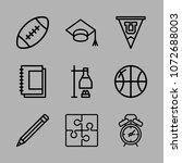 school and college icon black... | Shutterstock .eps vector #1072688003
