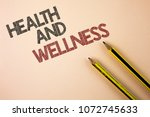 writing note showing  health... | Shutterstock . vector #1072745633