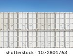 colorful stack of container... | Shutterstock . vector #1072801763