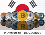 popular cryptocurrency coins on ... | Shutterstock . vector #1072808093