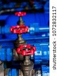 water valve sprinkler and fire... | Shutterstock . vector #1072832117